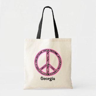 Tote del signo de la paz bolsa de mano