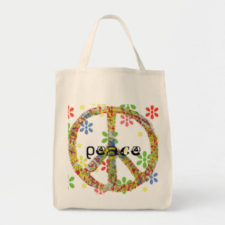 Tote del símbolo de paz bolsa