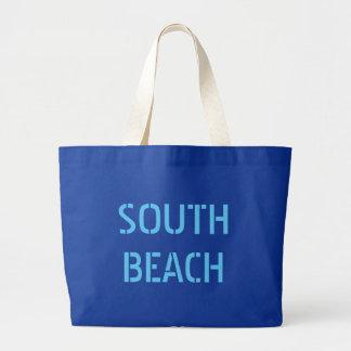 Tote del sur del jumbo de la playa bolsa de tela grande