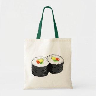 Tote del sushi bolsas lienzo