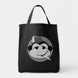 tote del totey del mono que fuma bolsa tela para la compra