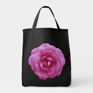 Tote del ultramarinos - color de rosa rosado oscur bolsa tela para la compra