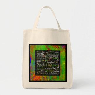 tote del ultramarinos con la inspiración bolsa tela para la compra