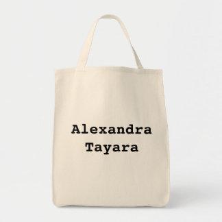 "TOTE del ULTRAMARINOS de ""Alexandra Tayara"" Bolsa Tela Para La Compra"