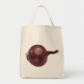 Tote del ultramarinos de la cebolla bolsa tela para la compra