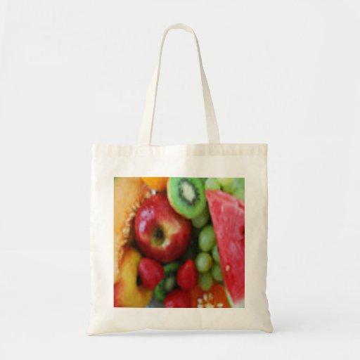 Tote del ultramarinos de la fruta bolsa tela barata