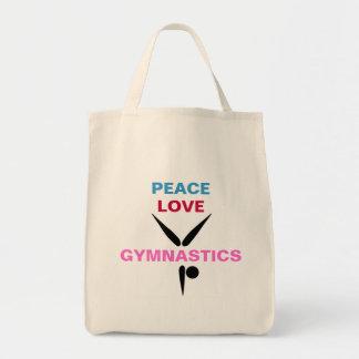 Tote del ultramarinos de la gimnasia del amor de l bolsa tela para la compra
