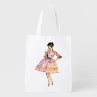 Tote del ultramarinos de la impresión de la moda bolsa reutilizable