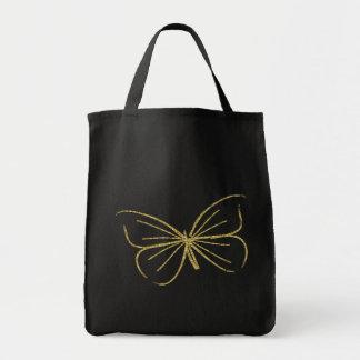 Tote del ultramarinos de la mariposa bolsa tela para la compra
