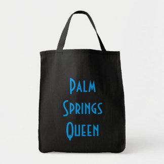 Tote del ultramarinos de la reina del Palm Springs Bolsa Tela Para La Compra