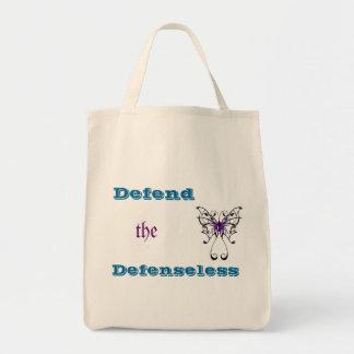 Tote del ultramarinos de la violencia en el hogar bolsa tela para la compra