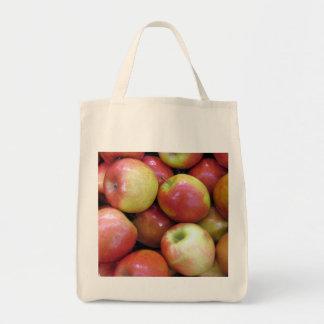 Tote del ultramarinos de las manzanas bolsa tela para la compra