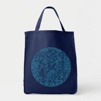 Tote del ultramarinos de los azules marinos del cí bolsas