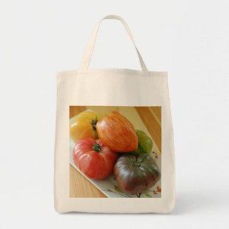 Tote del ultramarinos de los tomates de la herenci bolsa lienzo