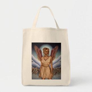 Tote del ultramarinos del ángel de guarda bolsa tela para la compra