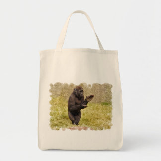 Tote del ultramarinos del chimpancé bolsa tela para la compra