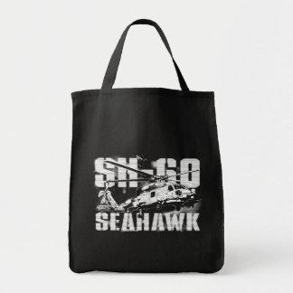 Tote del ultramarinos del halcón del mar bolsa tela para la compra