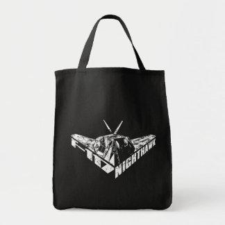 Tote del ultramarinos del Nighthawk F-117 Bolsa Tela Para La Compra