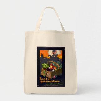 Tote del ultramarinos del poster de la comida del bolsa tela para la compra