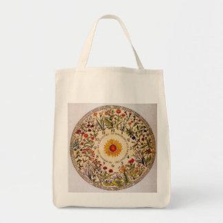Tote del ultramarinos del reloj de la flor de bolsas