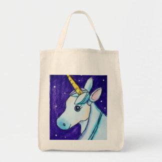Tote del ultramarinos del unicornio bolsa tela para la compra