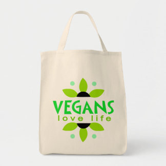 Tote del ultramarinos del vegano bolsa tela para la compra