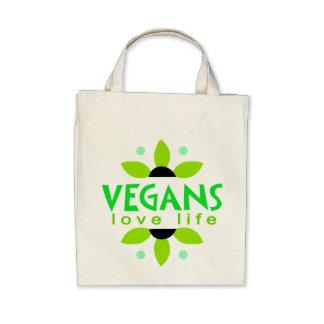 Tote del ultramarinos del vegano bolsas