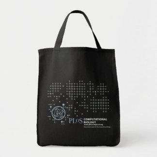 Tote del ultramarinos (oscuro) bolsa lienzo