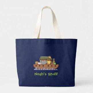 Tote del viaje de la arca de Noah de los niños Bolsa Tela Grande