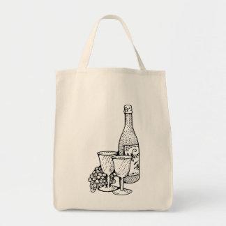 Tote del vino bolsa lienzo