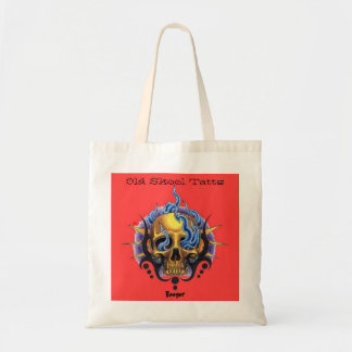 Tote (designer) - Old Skool Tattoo Skull & Flames Bags