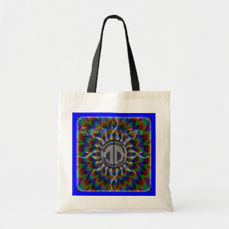 "Tote DestinationDawn Logo ""Psychadelic Burst"" Budget Tote Bag"