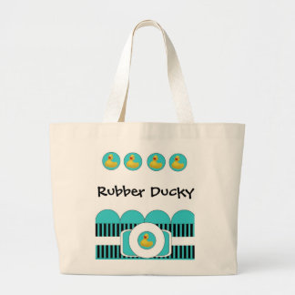 Tote Ducky de goma Bolsa Tela Grande