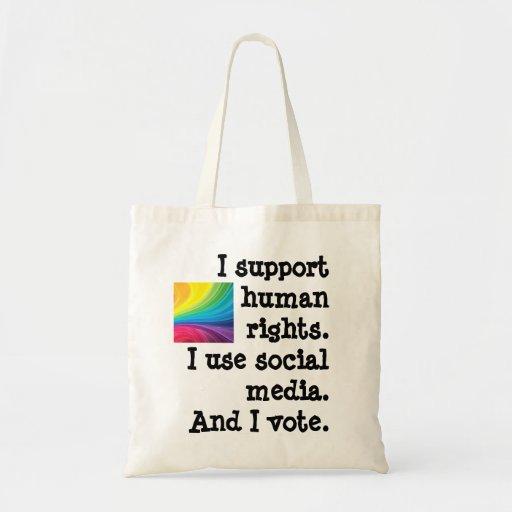 Tote el voto - derechos humanos de la ayuda bolsa