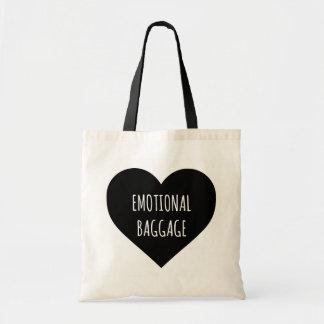 Tote emocional del corazón del equipaje bolsa tela barata