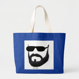 Tote enorme de la barba del hombre cerca: da'vy bolsa tela grande