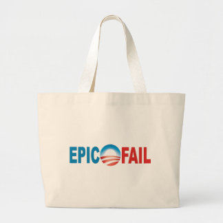 Tote épico del fall de Anti-Obama Bolsa Tela Grande