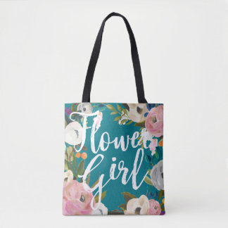 Tote floral cepillado florista del banquete de bolsa de tela