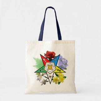 Tote floral del emblema de la estrella del este bolsas