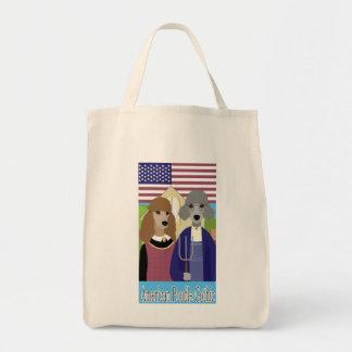 Tote gótico del caniche americano bolsas