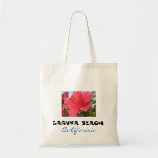 Tote grande del Laguna Beach - hibisco Bolsa Tela Barata