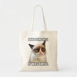 Tote gruñón del gato bolsas