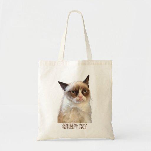 Tote gruñón del gato - color bolsas