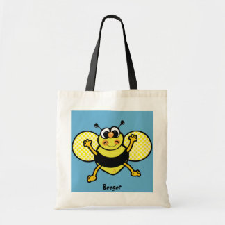 Tote Handbag - Animated Busy Bee Canvas Bags