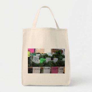 Tote herbario orgánico bolsa tela para la compra