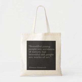 Tote hermoso de la cita de la gente bolsa tela barata