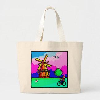 Tote holandés del molino de viento bolsa de mano