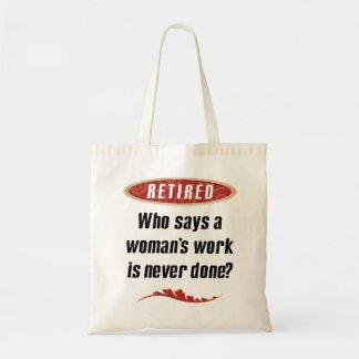Tote jubilado de la mujer bolsa tela barata