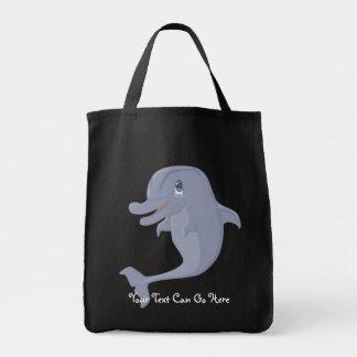 Tote juguetón del delfín bolsas de mano