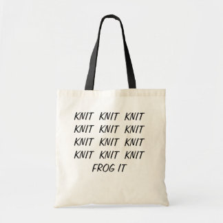 Tote - Knit - Frog It Budget Tote Bag
